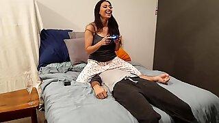 Bratty sis Facesit throttle (With Fart)