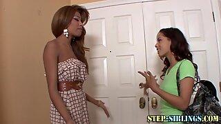 Lesbian teen ebony stepsisters 69