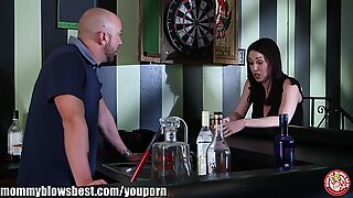 MommyBB Busty mom drinking over a cheating boyfriend!