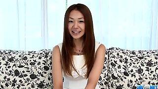 Sakura Hirota sucks cock while casting for porn