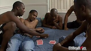 Thug orgy four way anal fuck in the room with big dicks