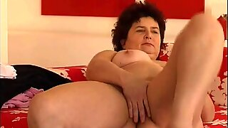 Chubby granny with big tits and hairy pussy