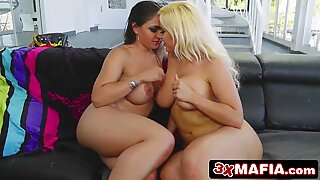 Thick Beauties Blondie Fesser &amp_ Alexandra Sivroskya Are Ready For Euro Sex Party