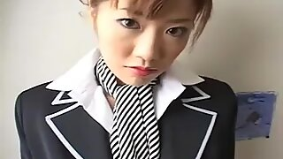 Japan stewardess with collar over collar
